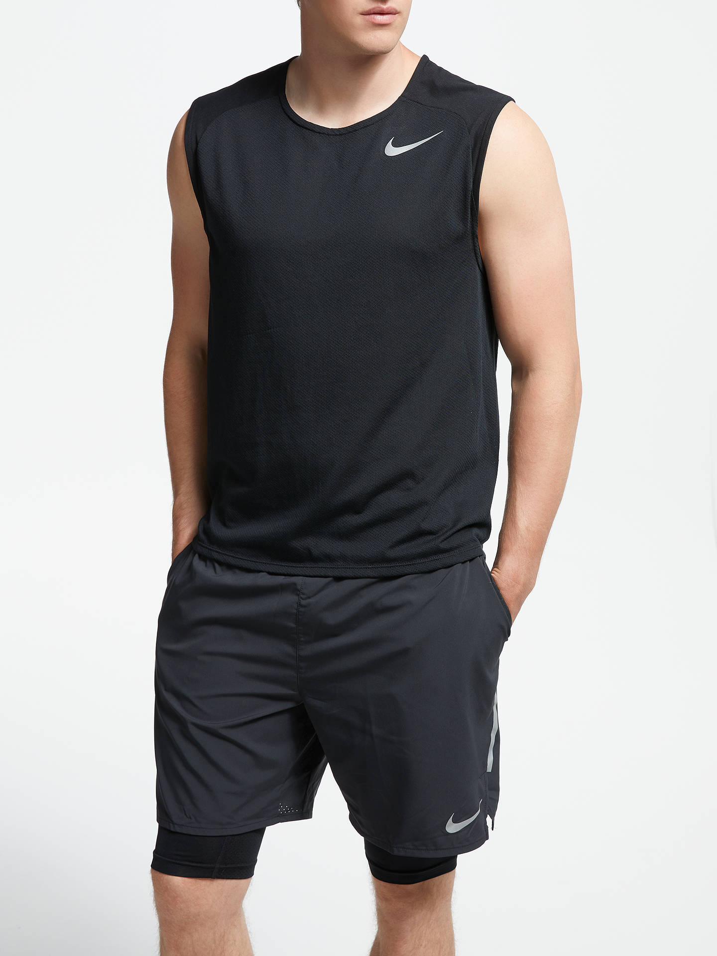Nike Mens Breathe Sleeveless Running Shirt