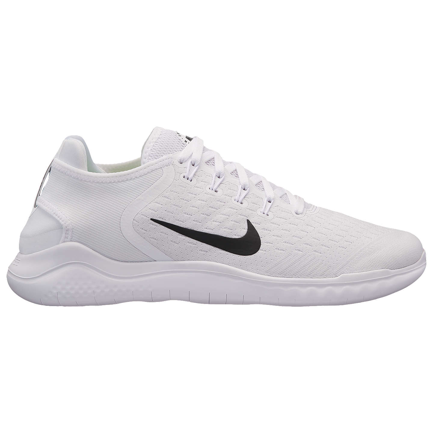 BuyNike Free RN 2018 Men's Running Shoe, White/Black, 7 Online at johnlewis  ...