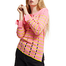 Buy French Connection Lattice Knit Jumper, Chateau Rose/Dark Citron Online at johnlewis.com