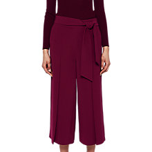 Buy Ted Baker Tie Waist Culottes, Purple Online at johnlewis.com