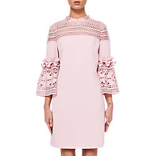 Buy Ted Baker Lucila Lace Bell Sleeved Tunic Dress, Dusty Pink Online at johnlewis.com