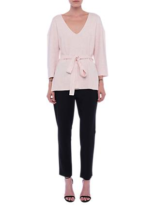 French Connection Vhari Tie Waist Jumper, Magnolia