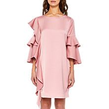 Buy Ted Baker Eicio Frill Detail Tunic Dress, Pink Online at johnlewis.com