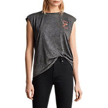 Buy AllSaints Cupid Harley Tank Top, Ash Black Online at johnlewis.com