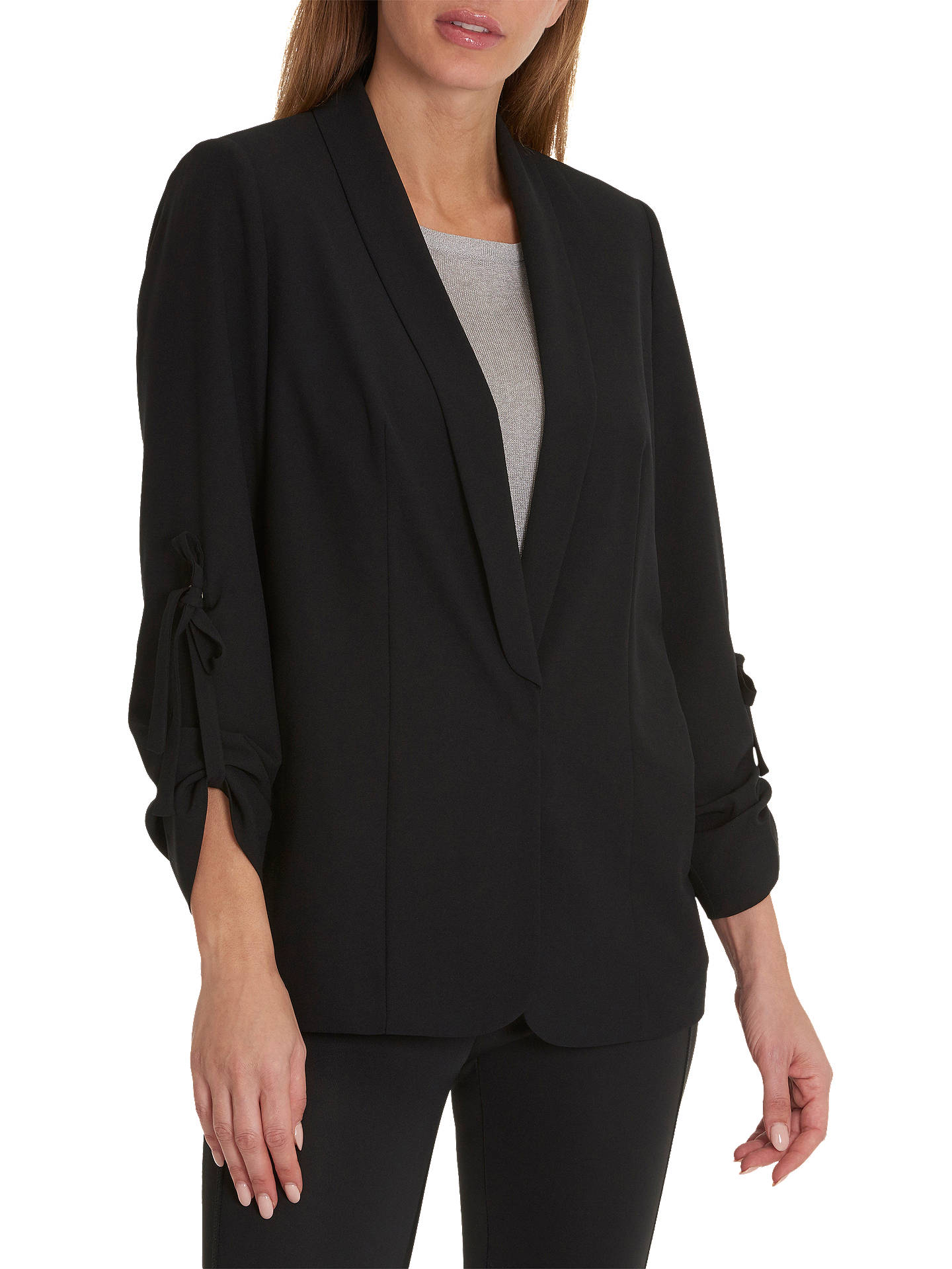 BuyBetty & Co. Long Crepe Jacket, Black, 10 Online at johnlewis.com