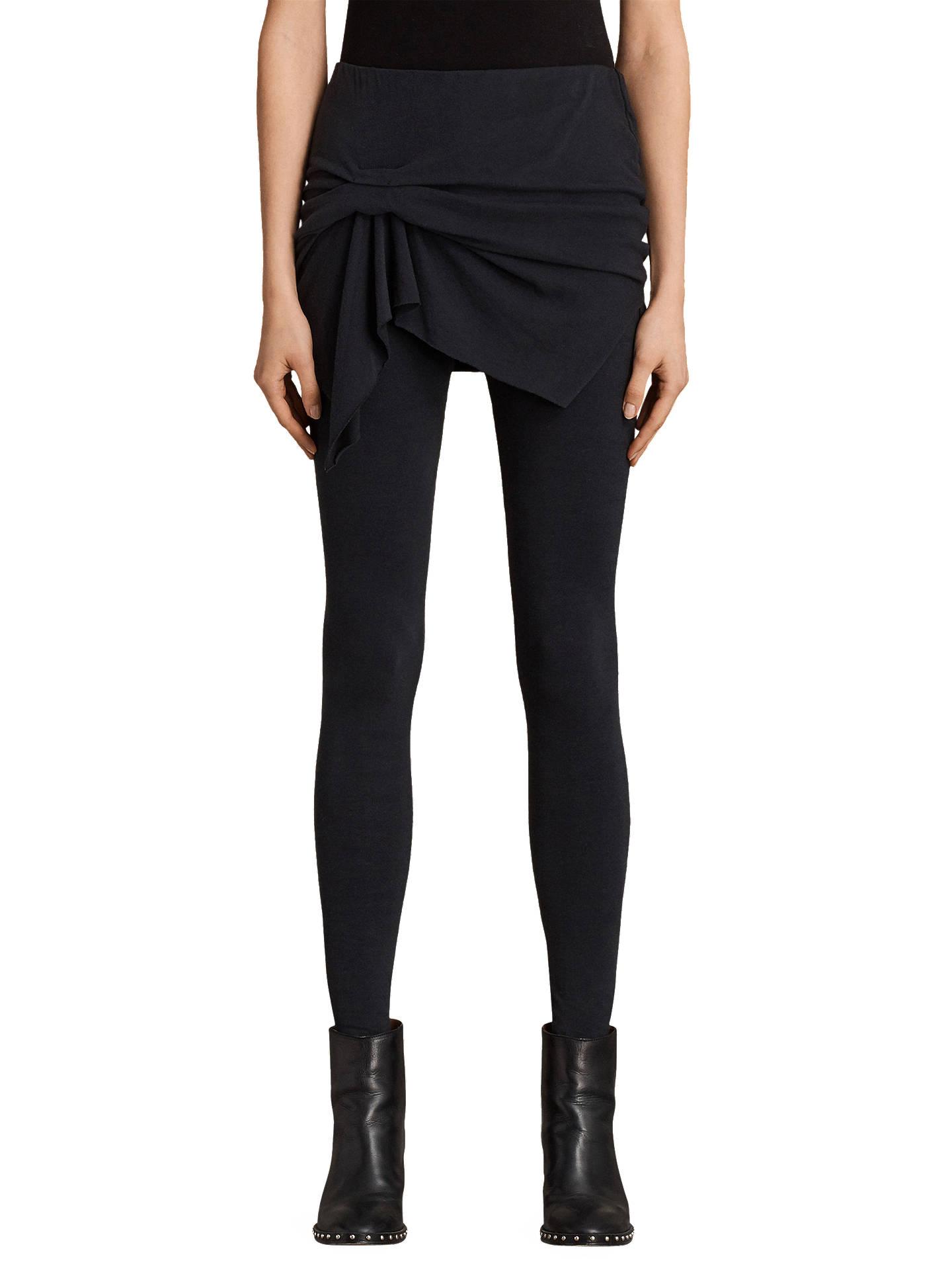 1fd4f6a3813a1 Buy AllSaints Raffi Riviera Leggings, Black, XS Online at johnlewis.com ...