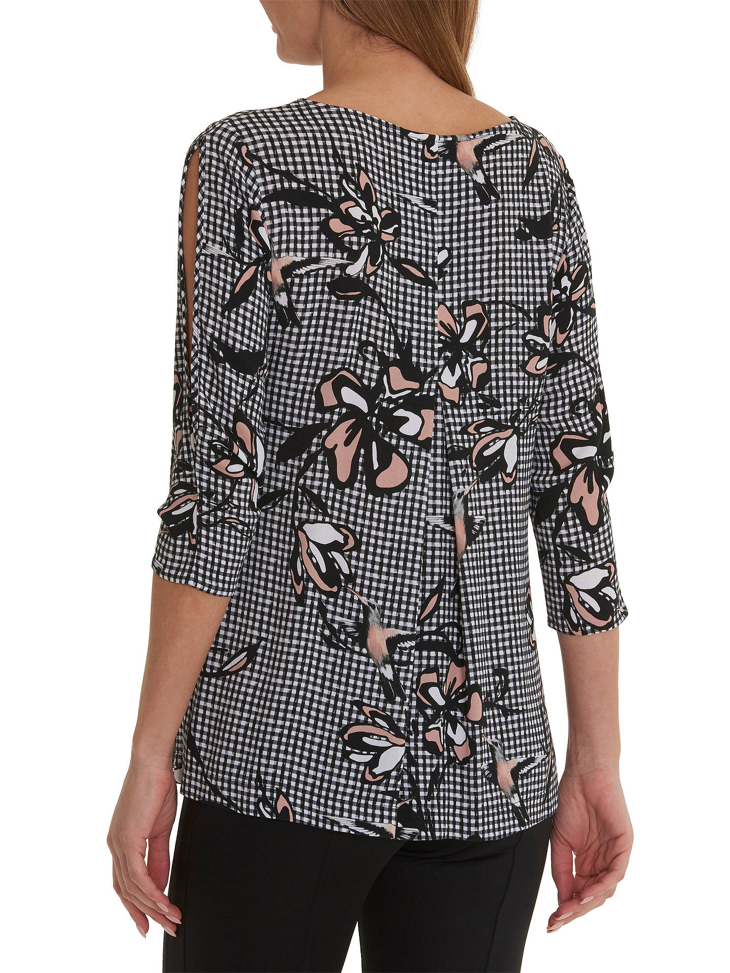 BuyBetty & Co. Gingham Print Tunic Top, Black/Rose, 10 Online at johnlewis.com