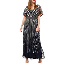Buy Studio 8 Avalon Beaded Maxi Dress, Navy Online at johnlewis.com