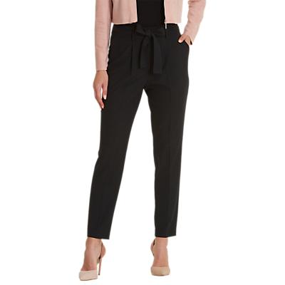 Betty & Co. Crepe Tie Belt Trousers, Black
