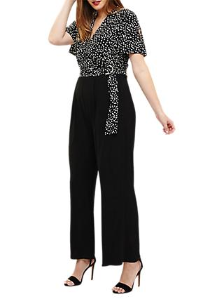 Studio 8 Luna Spot Jumpsuit, Black/White