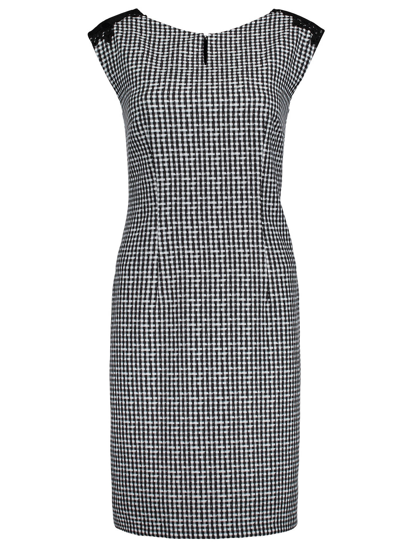 Buy Betty & Co. Gingham Shift Dress, Black/White, 10 Online at johnlewis.com