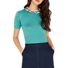 Buy Oasis Painted Meadow Collar Jumper Online at johnlewis.com