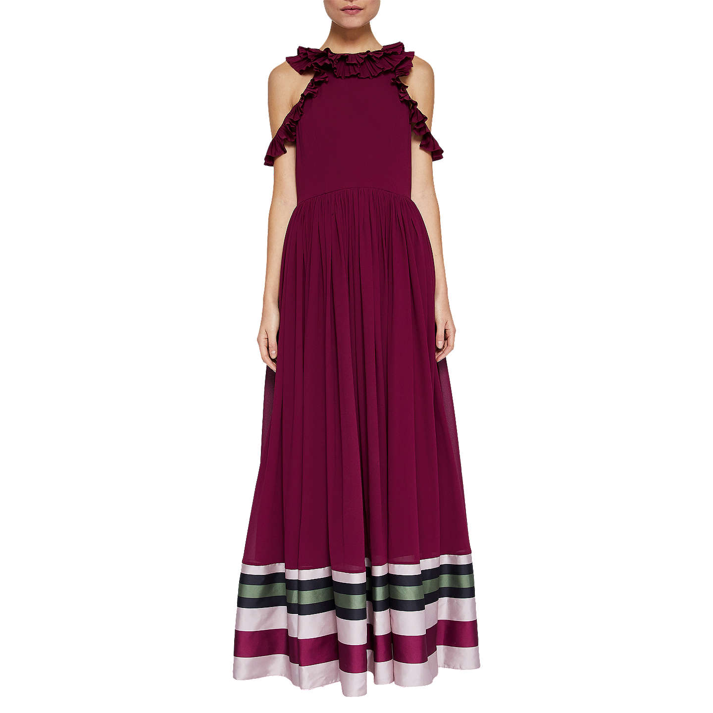 Ted Baker Imperial Stripe Maxi Dress, Deep Purple by Ted Baker