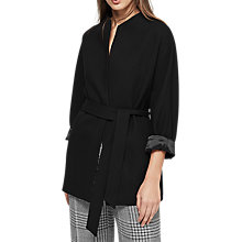 Buy Reiss Farrow Edge to Edge Short Coat, Black Online at johnlewis.com