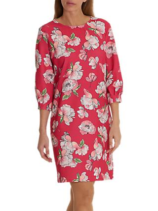 Betty & Co. Floral Print Dress, Dark Pink