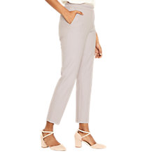 Buy Oasis Camila Split Detail Trousers, Mid Grey Online at johnlewis.com