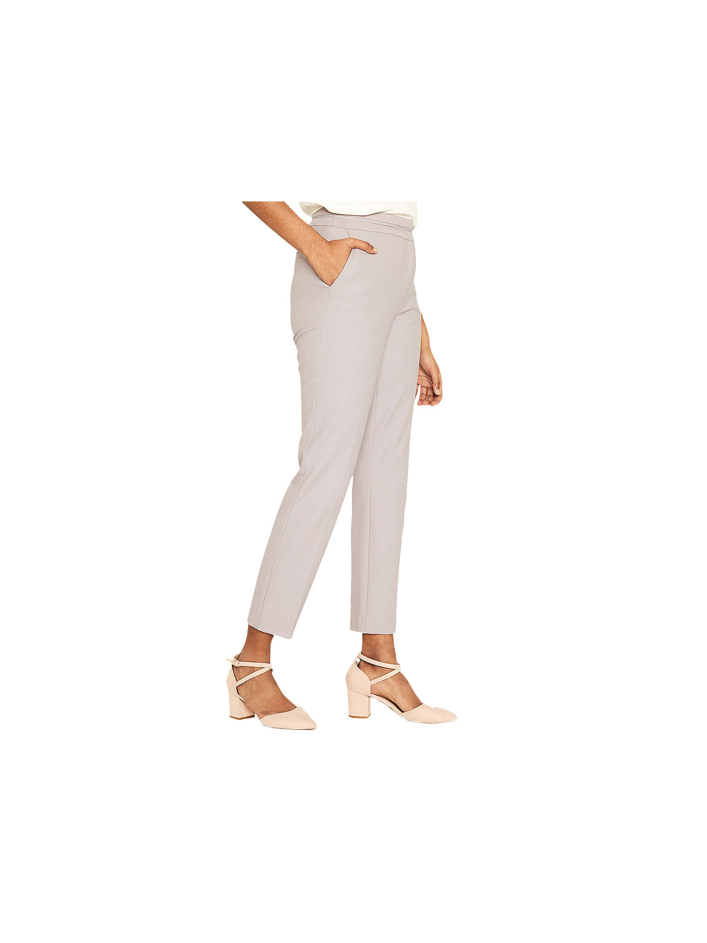 1fdd42964485 Buy Oasis Camila Split Detail Trousers, Mid Grey, 8 Online at johnlewis.com  ...