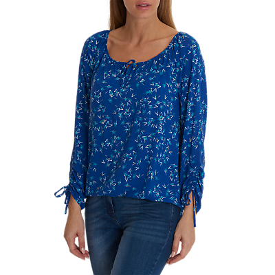 Betty & Co. Graphic Print Blouse, Blue/White