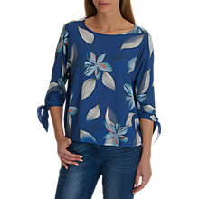 Buy Betty & Co. Floral Print Top, Blue/White Online at johnlewis.com