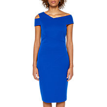Buy Ted Baker Yandal Asymmetric Bodycon Dress, Mid Blue Online at johnlewis.com