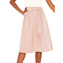 Buy Oasis Jacquard Midi Skirt, Light Neutral Online at johnlewis.com