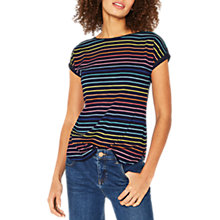 Buy Oasis Rainbow Slub T-Shirt Multi/Blue Online at johnlewis.com