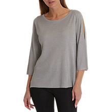 Buy Betty Barclay Fine Knit Top, Grey Melange Online at johnlewis.com