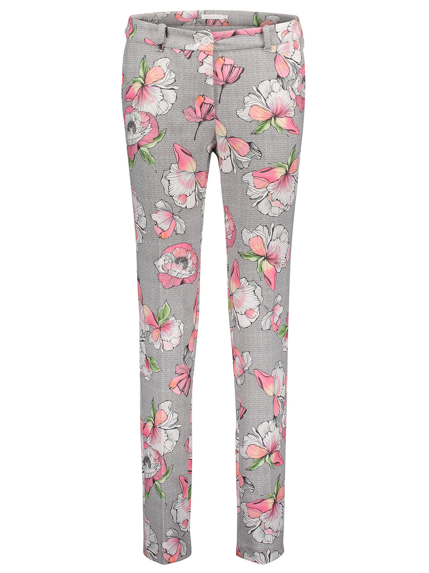 Buy Betty & Co. Floral And Mesh Print Trousers, Grey/Pink, 10 Online at johnlewis.com