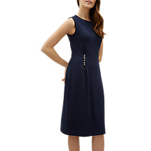 Buy Jaeger Shank Detail Sleeveless Jersey Dress, Navy Online at johnlewis.com