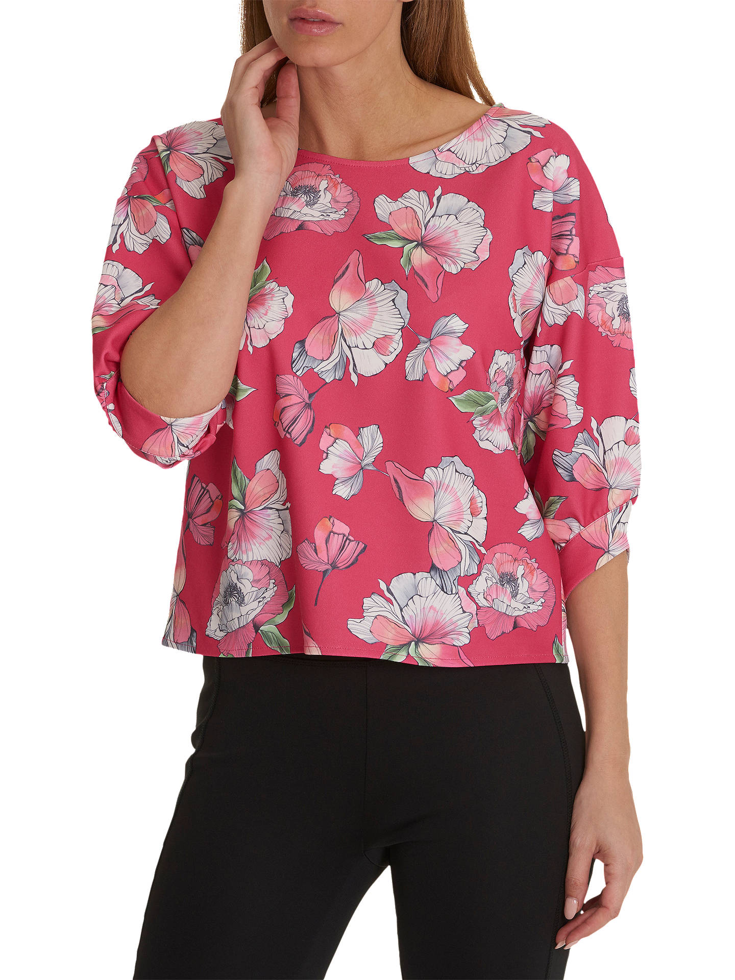 BuyBetty & Co. Floral Print Top, Dark Pink, 10 Online at johnlewis.com