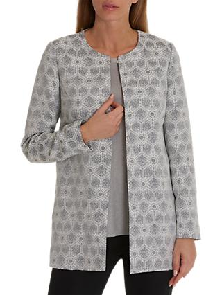 Betty & Co. Tapestry Weave Jacket, Grey/Cream