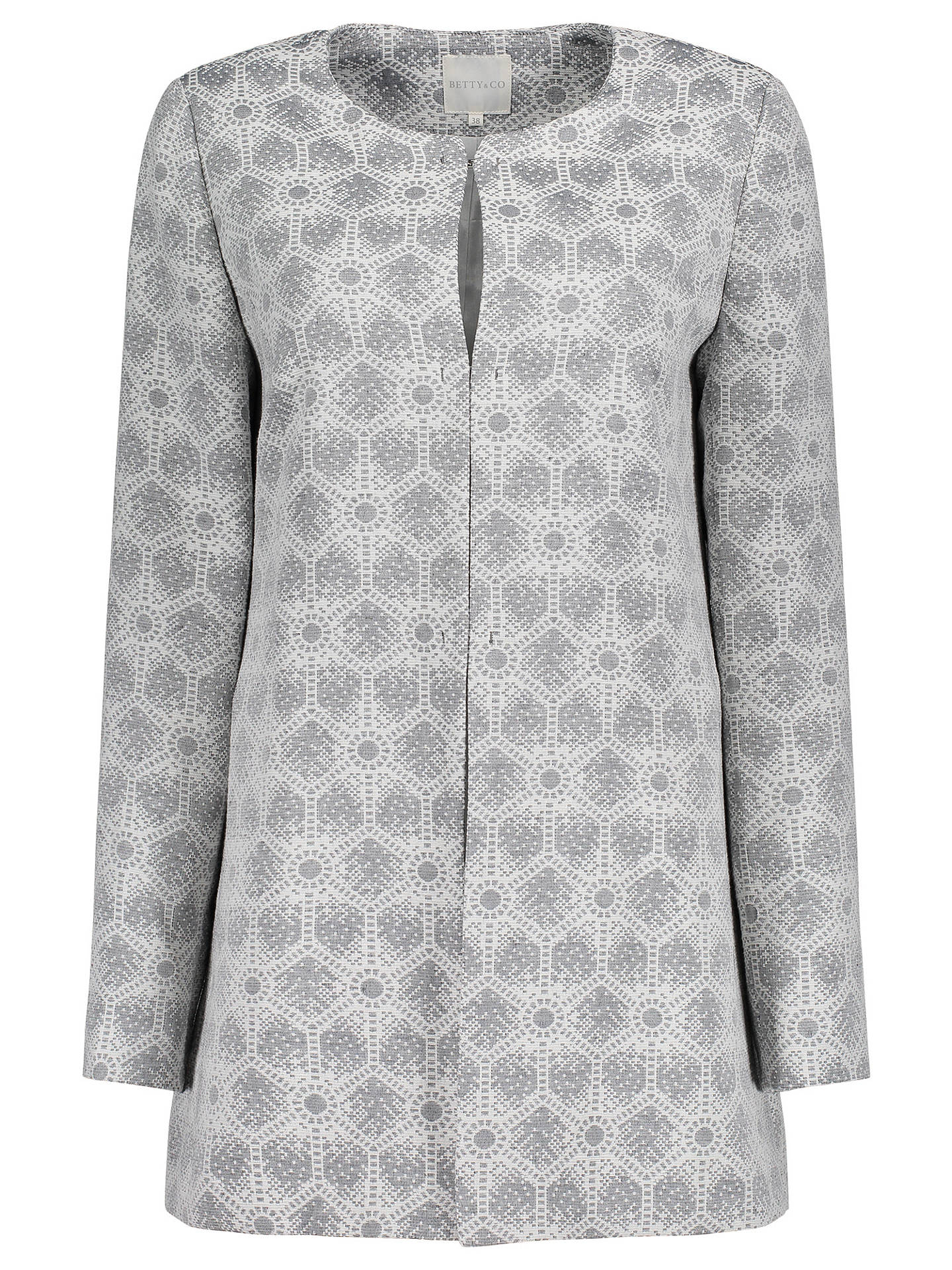 BuyBetty & Co. Tapestry Weave Jacket, Grey/Cream, 10 Online at johnlewis.com