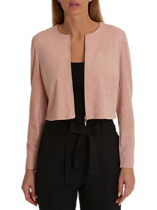 Betty & Co. Short Faux Suede Jacket, New Rose