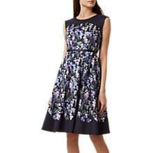 Buy Hobbs Aubrie Dress, Navy Multi Online at johnlewis.com