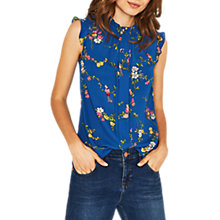 Buy Oasis Bouquet Bird Shell Top, Multi/Blue Online at johnlewis.com