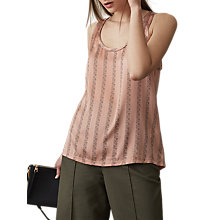 Buy Reiss Remy Printed Silk Front Vest Top, Multi Online at johnlewis.com