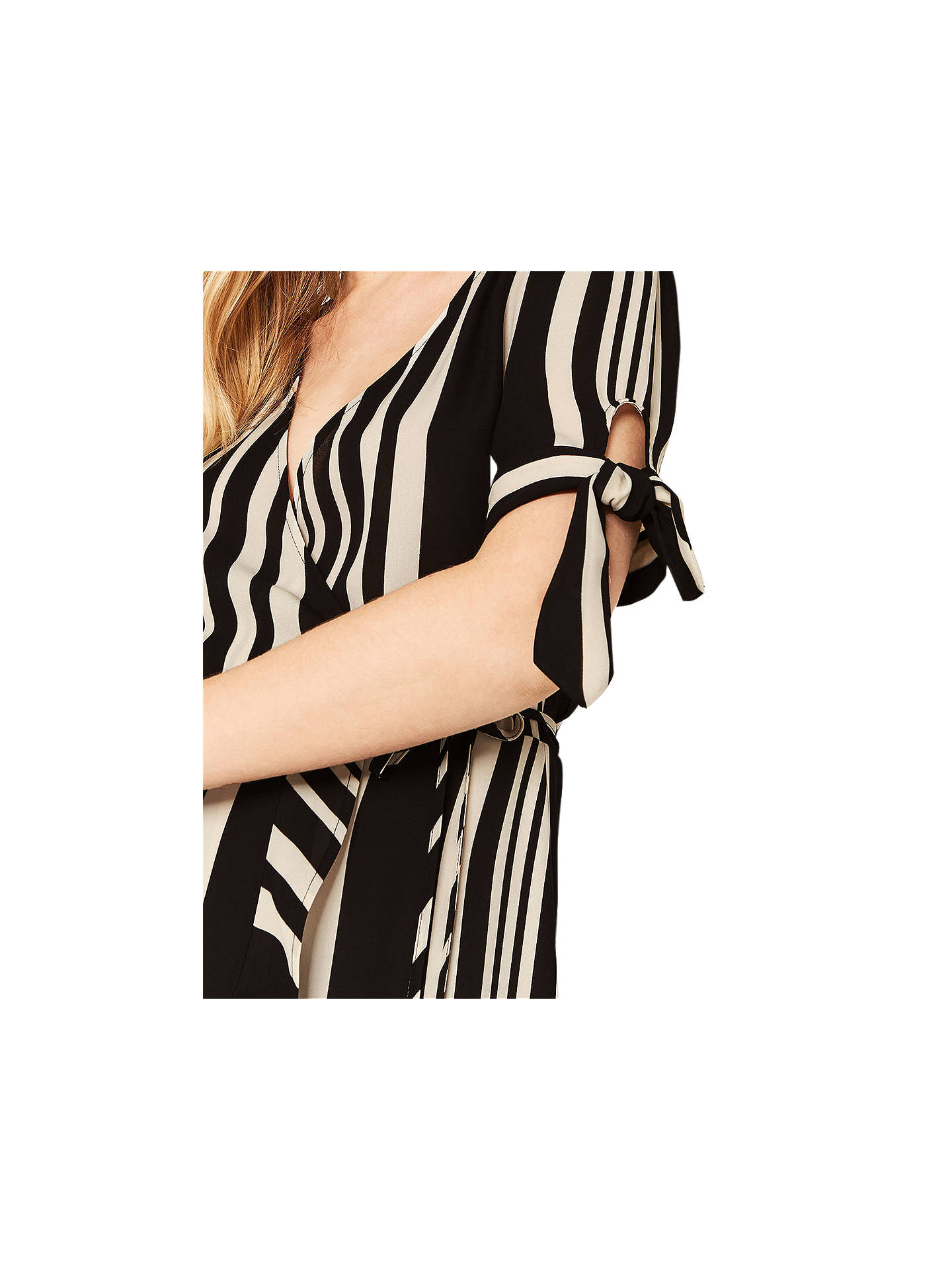 dd81ea82a684 ... Buy Oasis Stripe Wrap Midi Dress, Black/Multi, , 6 Online at johnlewis