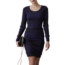 Buy Reiss Long Sleeved Knitted Dress, Night Navy Online at johnlewis.com