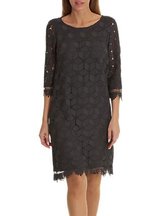 Betty & Co. Lace Shift Dress, Night Silver