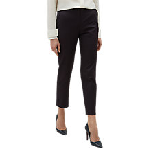 Buy Jaeger Textured Jacquard Trousers, Navy Online at johnlewis.com