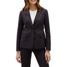 Buy Jaeger Jacquard Textured Jacket, Navy Online at johnlewis.com