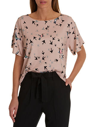 Buy Betty & Co. Flying Bird Top, Rose/Black, 10 Online at johnlewis.com