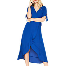 Buy Oasis Tie Sleeve Midi Dress, Rich Blue Online at johnlewis.com