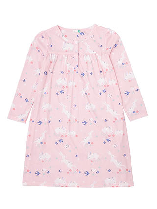 Buy John Lewis & Partners Girls' Bunnies Print Nightdress, Pink, 2 years Online at johnlewis.com