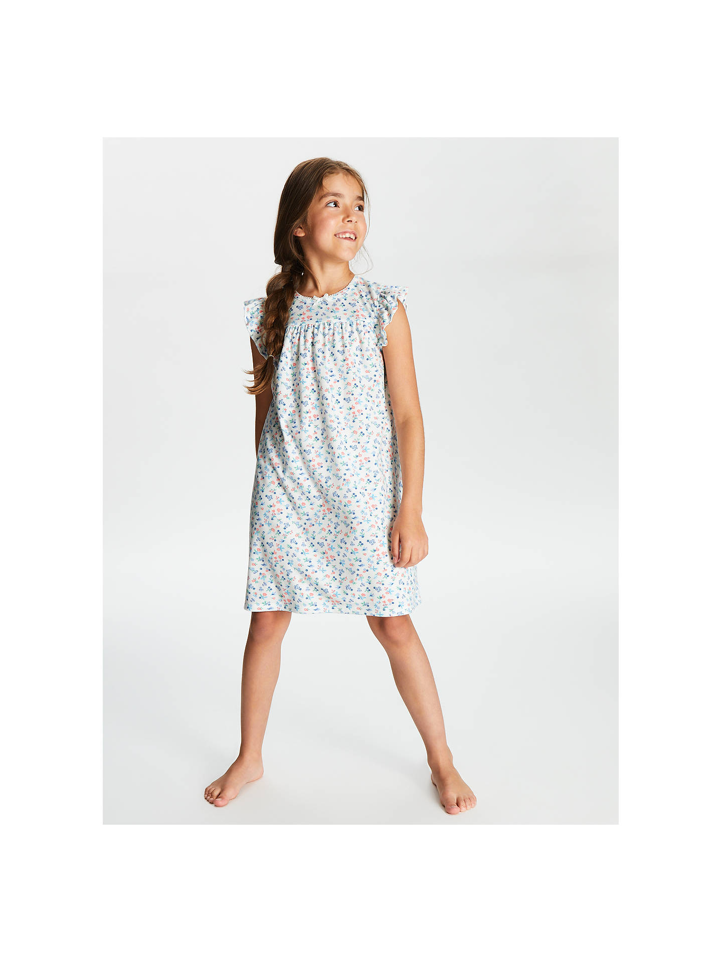 2564f9f90d Buy John Lewis & Partners Girls' Floral Berry Short Sleeve Nightdress,  Cream, 2 ...