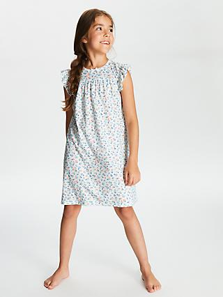 8688bacbb John Lewis & Partners Girls' Floral Berry Short Sleeve Nightdress, ...