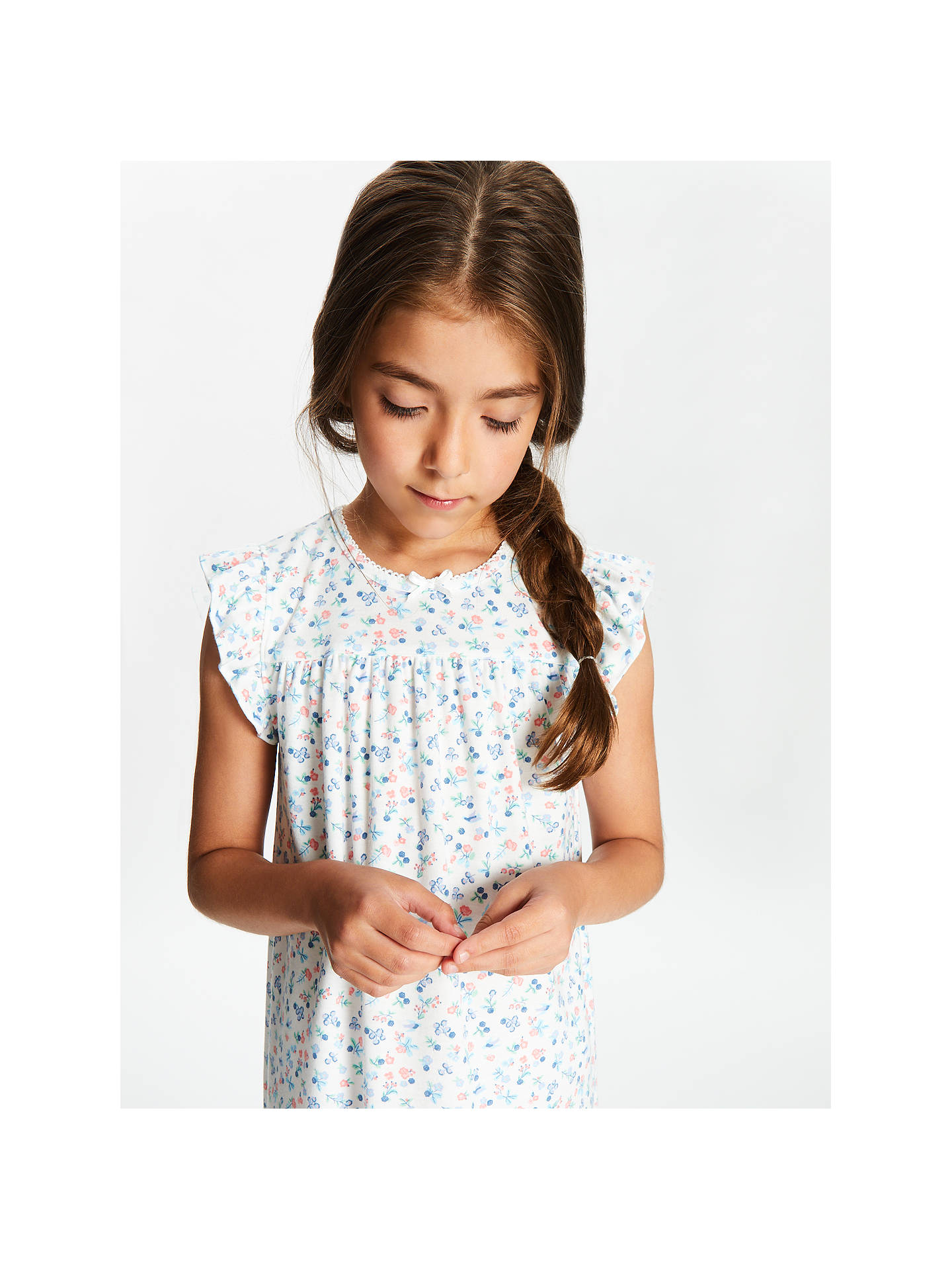 a297d2c1a5 ... Buy John Lewis & Partners Girls' Floral Berry Short Sleeve Nightdress,  Cream, 2