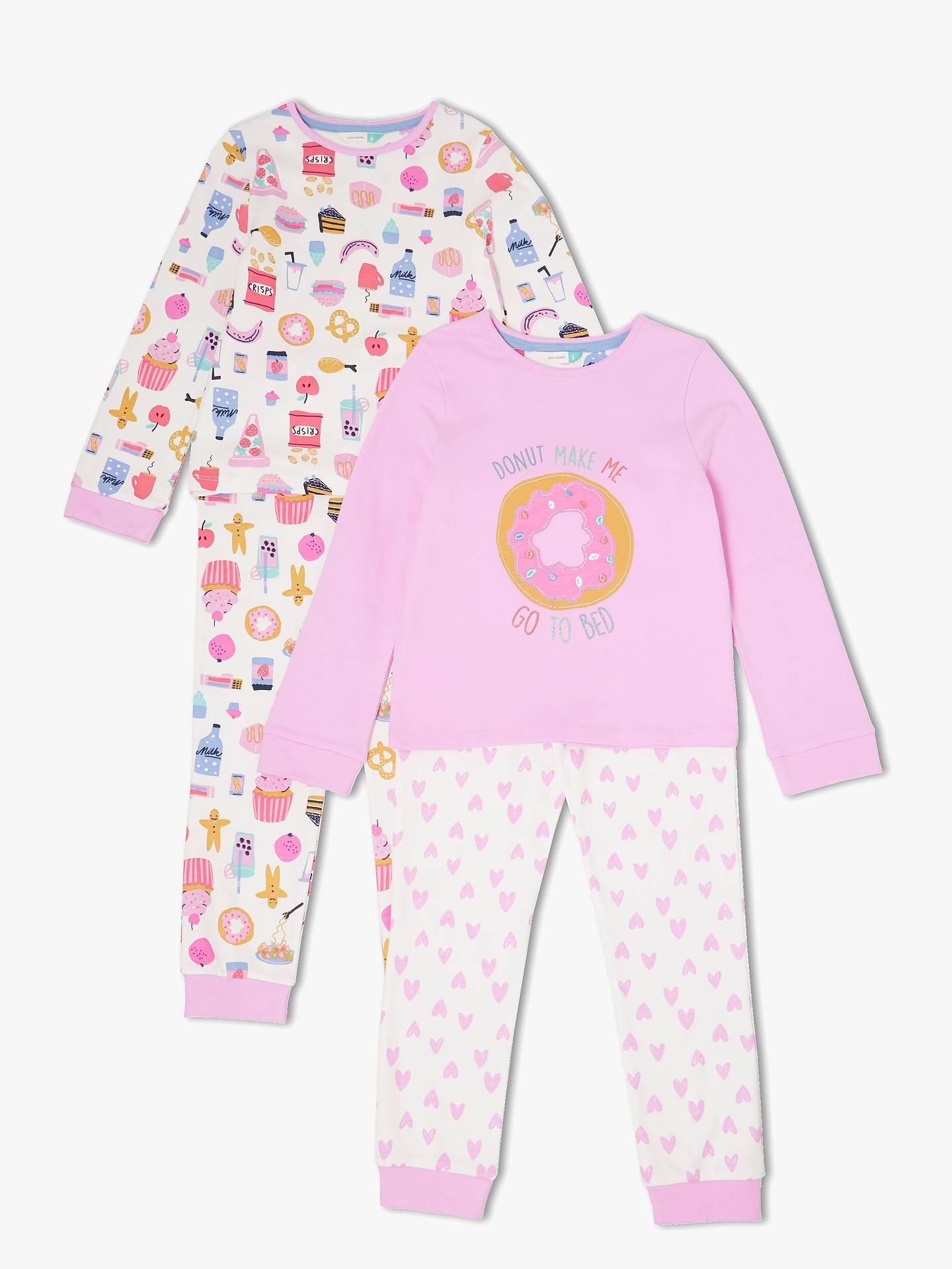 54129579b9e6 John Lewis   Partners Girls  Snack Time Pyjamas