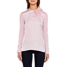 Buy Ted Baker Clerer Flower Detail Jumper, Baby Pink Online at johnlewis.com
