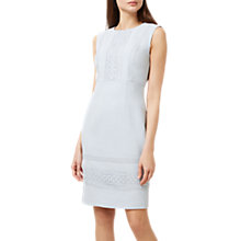 Buy Hobbs Evadine Dress. Duck Egg Blue Online at johnlewis.com